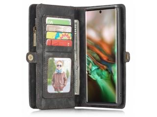 CaseMe Samsung Galaxy Note 10 Echtleder Hülle Karten Etui - schwarz