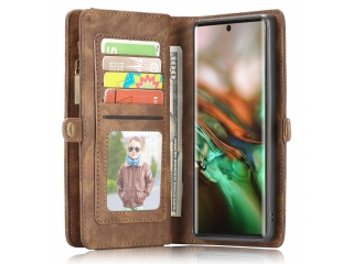 CaseMe Samsung Galaxy Note 10 Echtleder Hülle Karten Etui - braun
