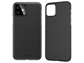 Baseus dünne iPhone 11 Hülle Ultrathin Case 0.4mm schwarz solid