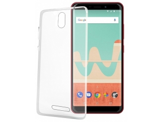 Wiko View Go Gummi TPU Hülle flexibel dünn transparent clear case