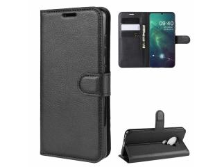 Nokia 6.2 Leder Hülle Portemonnaie Karten Ledertasche schwarz