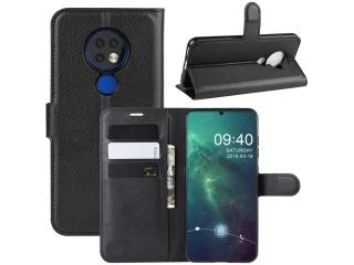 Nokia 7.2 Leder Hülle Portemonnaie Karten Ledertasche schwarz