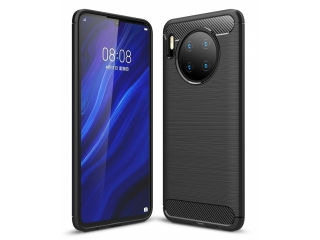 Huawei Mate 30 Carbon Gummi Hülle TPU Thin Case Cover flexibel schwarz
