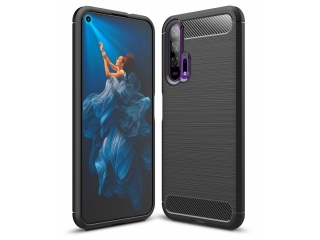 Honor 20 Pro Carbon Gummi Hülle TPU Thin Case Cover flexibel schwarz