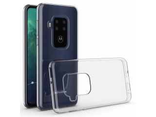 Motorola One Zoom Gummi TPU Hülle flexibel dünn transparent clear case