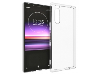 Sony Xperia 5 Gummi TPU Hülle dünn flexibel transparent clear case