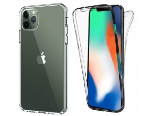 360 Grad iPhone 11 Pro Touch Case Transparent TPU Rundumschutz Hülle