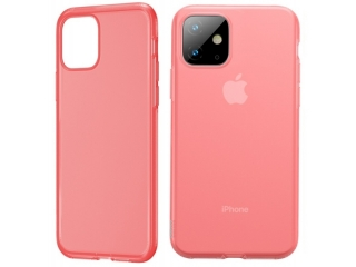 Baseus Liquid Silicone iPhone 11 Silikon Hülle transparent rosa
