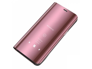 Huawei P30 Pro Flip Cover Clear View Flip Case transparent rosa