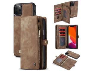 CaseMe iPhone 11 Pro Max Echtleder Karten Hülle Ledertasche Case braun