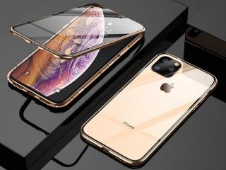 iPhone 11 Pro Magnetische Alu Hülle Panzerglas Vorne & Hinten gold