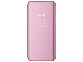iPhone 11 Pro Flip Cover Clear View Standing Case transparent rosa