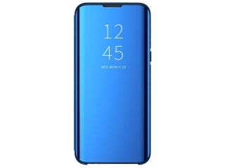 iPhone 11 Pro Max Flip Cover Clear View Stand Case transparent blau
