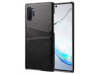 Samsung Galaxy Note 10+ Leder Case Hülle für Bank Kreditkarten schwarz