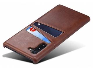 Samsung Galaxy Note 10 Leder Case Hülle für Bank Kreditkarten braun