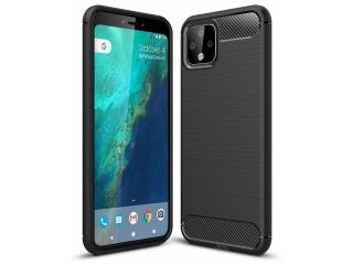 Google Pixel 4 Carbon Gummi Hülle TPU Case Cover flexibel schwarz