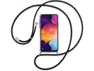 Samsung Galaxy A50 Handykette Necklace Hülle Gummi transparent clear