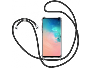 Samsung Galaxy S10 Handykette Necklace Hülle Gummi transparent clear