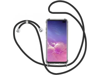 Samsung Galaxy S10+ Handykette Necklace Hülle Gummi transparent clear