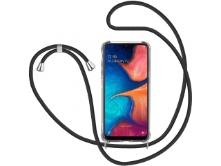 Samsung Galaxy A20e Handykette Necklace Hülle Gummi transparent clear