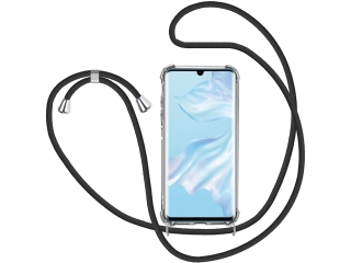 Huawei P30 Handykette Necklace Hülle Gummi transparent clear
