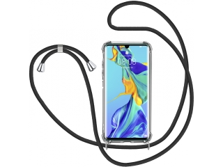 Huawei P30 Pro Handykette Necklace Hülle Gummi transparent clear