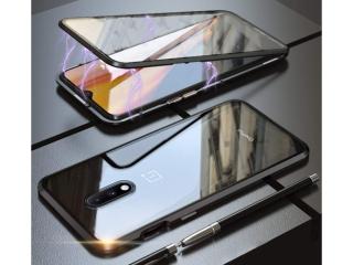OnePlus 7 Magnetische Alu Hülle Panzerglas Vorne & Hinten schwarz