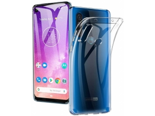 Motorola One Action Gummi TPU Hülle flexibel dünn transparent clear