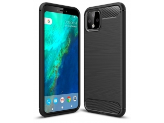 Google Pixel 4 XL Carbon Gummi Hülle TPU Case Cover flexibel schwarz