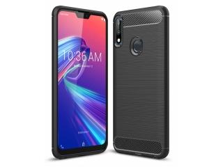 Asus Zenfone Max Pro M2 Carbon Gummi Hülle TPU Case flexibel schwarz