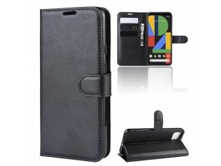Google Pixel 4 XL Leder Hülle Portemonnaie Karten Ledertasche schwarz