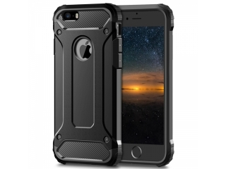 iPhone 5S SE Outdoor Hardcase & Soft Inlay für Sport Business schwarz