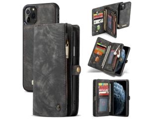 CaseMe iPhone 11 Pro Max Echtleder Karten Hülle Ledertasche schwarz