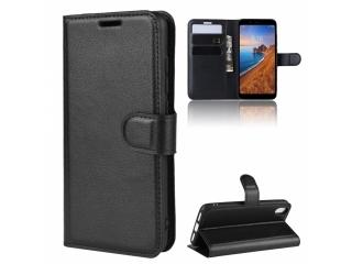 Xiaomi Redmi 7A Leder Hülle Portemonnaie Karten Ledertasche schwarz