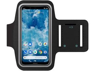 Nokia 8.1 Fitness Jogging Sport Armband mit Schlüsselfach