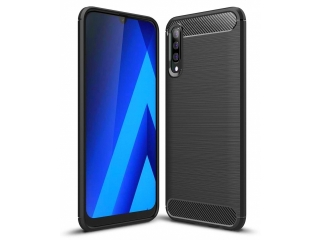Samsung Galaxy A70s Carbon Gummi Hülle TPU Case Cover flexibel schwarz