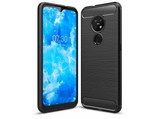 Nokia 7.2 Carbon Gummi Hülle TPU Case Cover flexibel schwarz