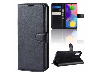 Samsung Galaxy A70s Leder Hülle Portemonnaie Karten Ledertasche schwar