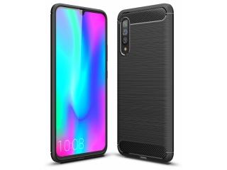 Samsung Galaxy A90 5G Carbon Gummi Hülle TPU Case flexibel schwarz