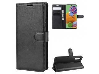 Samsung Galaxy A90 5G Leder Hülle Portemonnaie Karten Ledertasche