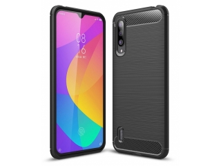 Xiaomi Mi 9 Lite Carbon Gummi Hülle TPU Case Cover flexibel schwarz