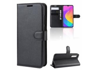 Xiaomi Mi 9 Lite Leder Hülle Portemonnaie Karten Ledertasche schwarz