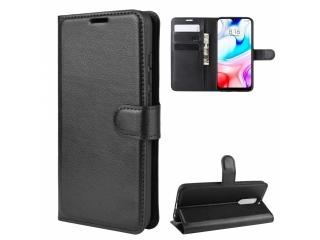 Xiaomi Redmi 8 Leder Hülle Portemonnaie Karten Ledertasche schwarz