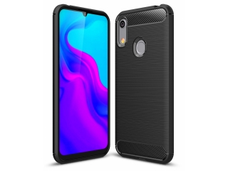 Honor 8A Carbon Gummi Hülle TPU Case Cover flexibel schwarz