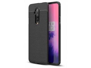 OnePlus 7T Pro Leder Design Gummi Hülle TPU Case Cover schwarz