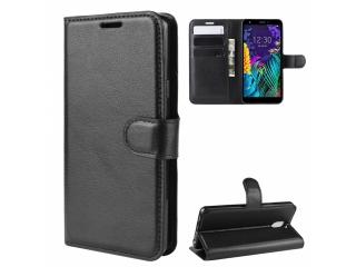 LG K30 Leder Hülle Portemonnaie Karten Ledertasche schwarz
