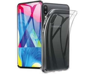 Samsung Galaxy M20 Gummi Hülle flexibel dünn transparent thin clear