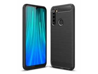 Xiaomi Redmi Note 8 Carbon Gummi Hülle TPU Case Cover flexibel schwarz