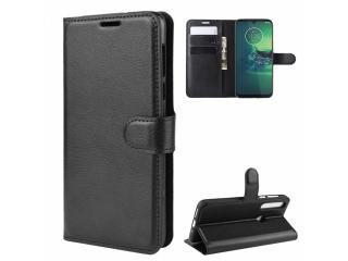 Motorola Moto G8 Plus Leder Hülle Portemonnaie Karten Ledertasche