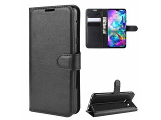 LG G8X ThinQ Leder Hülle Portemonnaie Karten Ledertasche schwarz